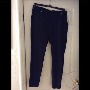NWT MK cotton velour legging pant Rib design 1X